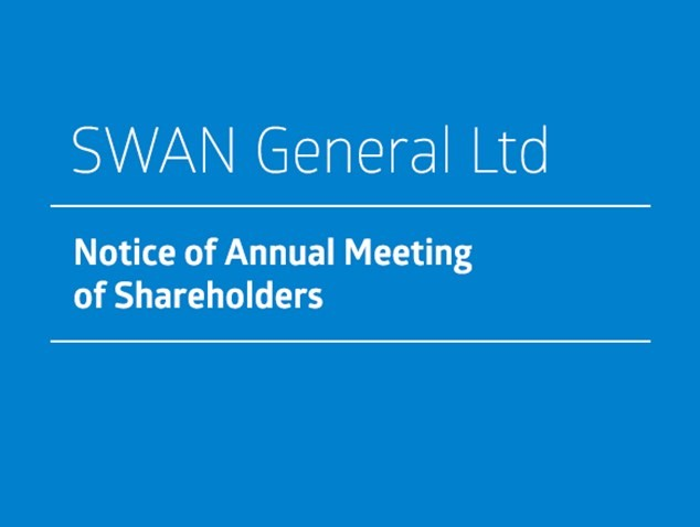Notice of Annual Meeting of Shareholders - Swan General Ltd