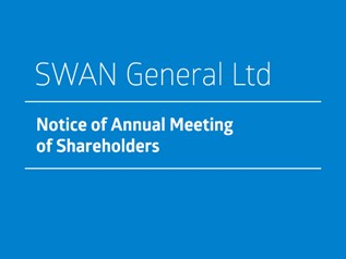 Swan General Ltd - Notice of Annual Meeting of Shareholders 2020
